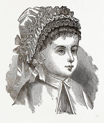 Babys Bonnet, 19th Century  Fashion Art Print