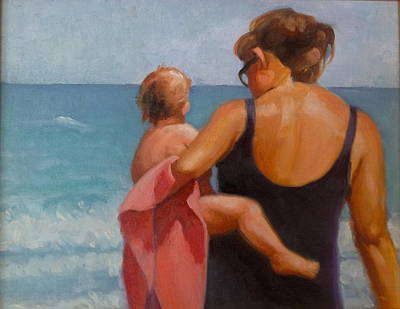 Painting - Baby's First Ocean by Janet McGrath