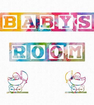 Shower Digital Art - Baby's Room by Dan Sproul