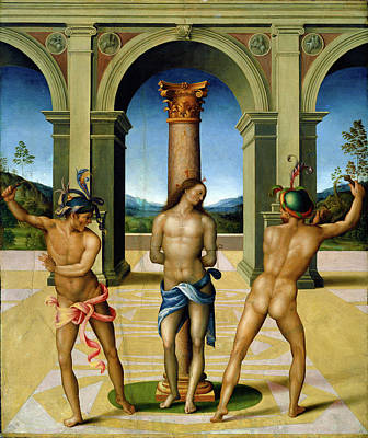 Flagellation Painting - Bacchiacca, The Flagellation Of Christ, Italian by Litz Collection