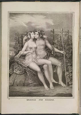 Depictions Of Nudity Photograph - Bacchus And Ariadne by British Library