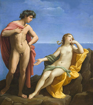 Female Nude Digital Art - Bacchus And Ariadne by Guido Reni