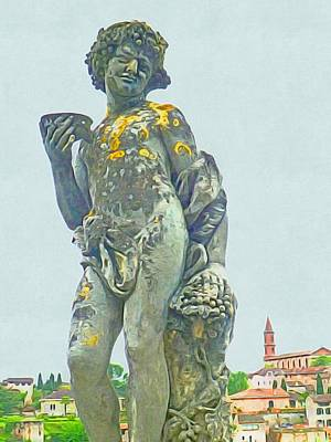Photograph - Bacchus At The Bishops Palace by Susan Alvaro