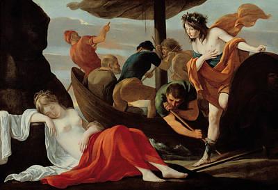 Bacchus Discovering Ariadne On Naxos Art Print