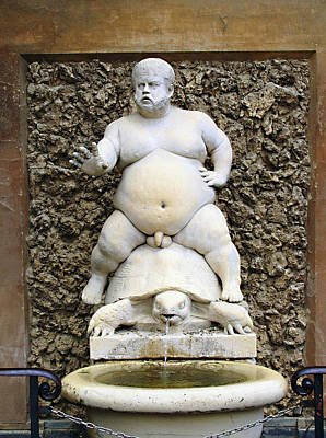 Bacchus Photograph - Bacchus Fountain by Ellen Henneke