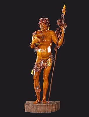 Baltic Amber Sculpture - Bacchus by Jacek Sumeradzki