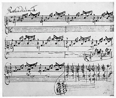Bach Painting - Bach Manuscript, 1720 by Granger
