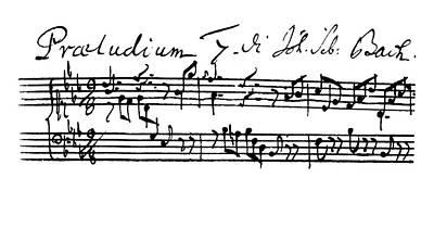 Bach Painting - Bach Manuscript, 1744 by Granger
