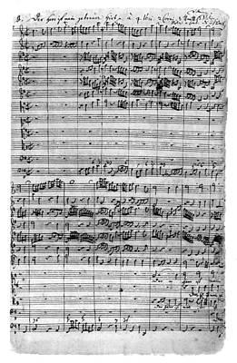 Bach Painting - Bach Manuscript, C1729 by Granger