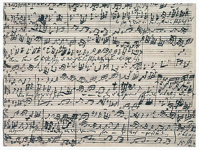 Bach Painting - Bach Manuscript, C1732 by Granger