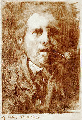 Bacher Self Portrait 1880 Art Print
