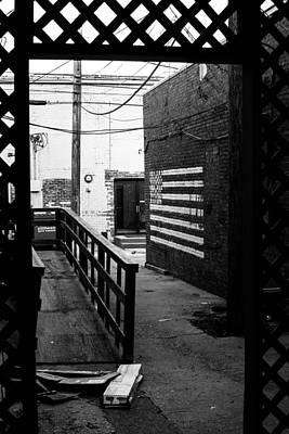 Back Alley America Art Print by Nathan Hillis