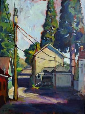 Back Alley Print by Margaret  Plumb