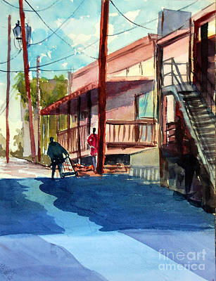 Back Alley Art Print by Ron Stephens