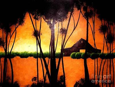 Back At The Barn Art Print by Kyle  Brock