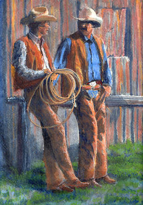 Barns Painting - Back At The Ranch by Jerry McElroy