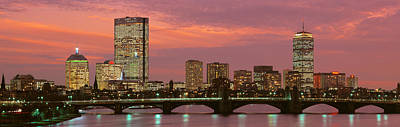 Boston Skyline Panoramic Photograph - Back Bay, Boston, Massachusetts, Usa by Panoramic Images