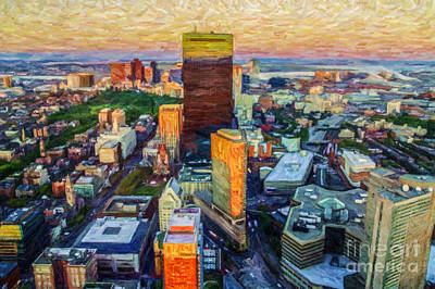 Digital Art - Back Bay by Liz Leyden