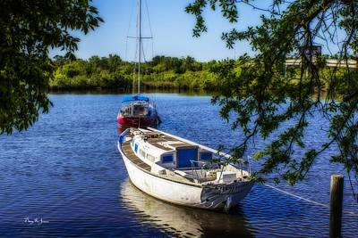 Photograph - Back Bay Mooring by Barry Jones