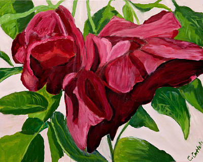 Painting - Back Bay Roses by Carmela Cattuti