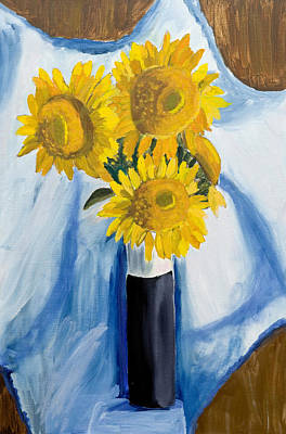 Painting - Back Bay Sunflowers by Carmela Cattuti