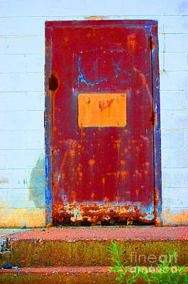 Photograph - Back Door by Christiane Hellner-OBrien