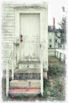 New England Village Photograph - Back Door by Edward Fielding