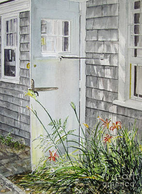 Painting - Back Door Nantucket by Carol Flagg