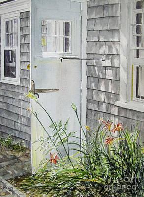 Back Door Nantucket Art Print