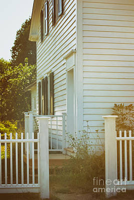 Photograph - Back Entrance Of Old Farm House by Sandra Cunningham