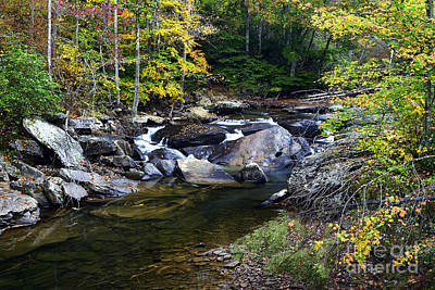 Virginia River Photograph - Back Fork Of Elk River Waterfall by Thomas R Fletcher