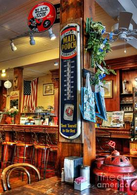 Old Diner Bar Stools Photograph - Back In Time by Mel Steinhauer
