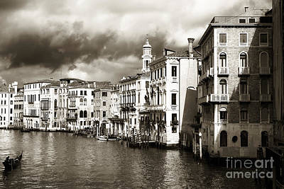Photograph - Back In Time On The Grand Canal by John Rizzuto
