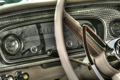 Automobile Photograph - Back In Time Vintage Car Dashboard by Heather Allen