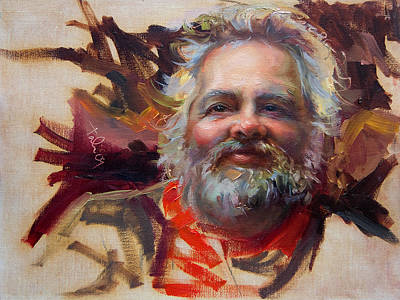 Mountain Man Painting - Back In Town by Talya Johnson