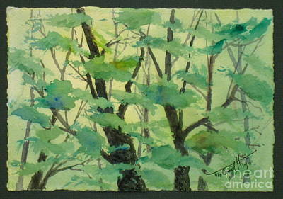 Hayfield Painting - Back Lit Jungle  by Mohamed Hirji