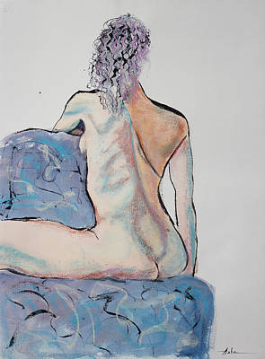 Painting - Back Of A Woman Straddling A Chair by Asha Carolyn Young