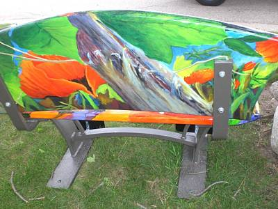 Painting - Back Of Bench Custom Painted by Glory Wood