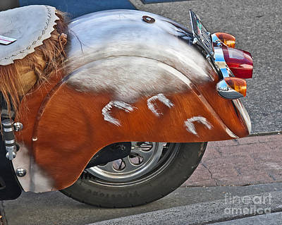 Photograph - Back Of Indian Customized Motorcycle by Valerie Garner