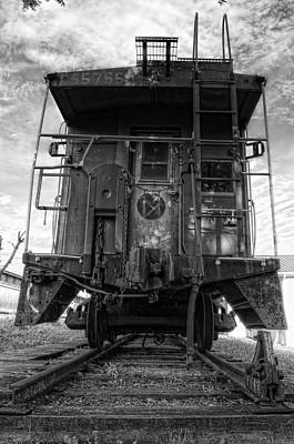 Photograph - Back Of The Line - Bw by Steve Hurt