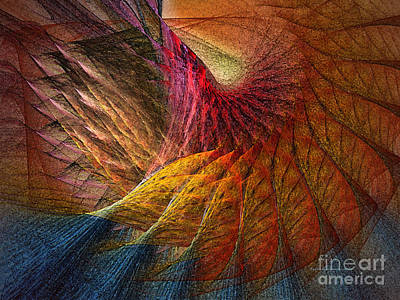 Vivid Digital Art - Back On Earth Abstract Art Print by Karin Kuhlmann