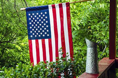 Back Porch Americana Art Print by Carolyn Marshall