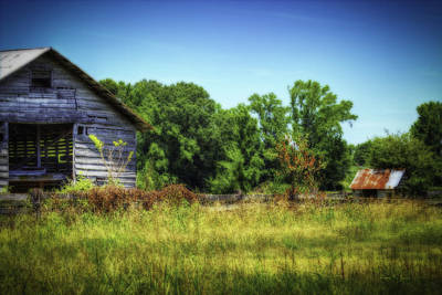 Photograph - Back Road Barns by Barry Jones