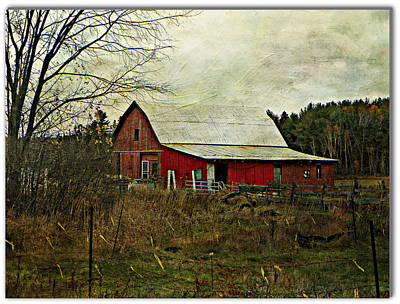 Photograph - Back Road Barns  by Dianne  Lacourciere