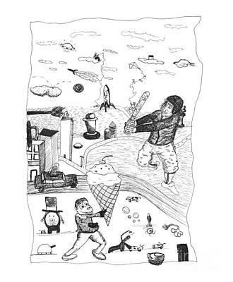 Back Rooms Of My Mind Door 17812 Print by Michael Mooney