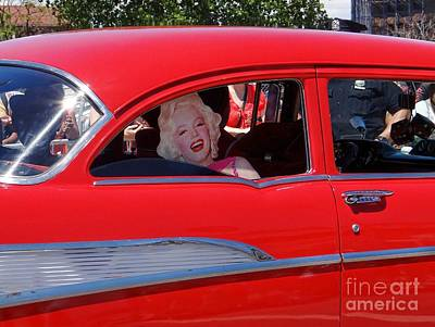 Art Print featuring the photograph Back Seat Marilyn by Ed Weidman