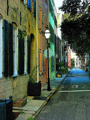 Art Print featuring the photograph Back Street In Charleston by Rodney Lee Williams