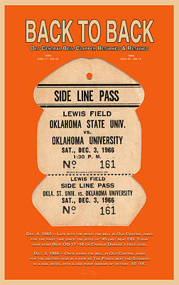 Oklahoma University Digital Art - Back To Back Rivalry Wins by Robert J Sadler