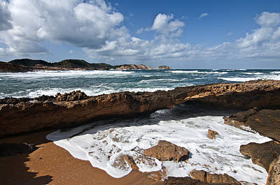 Deco Photograph - A Part Of Binimel-la Beach In Minorca - Back To Eden by Pedro Cardona