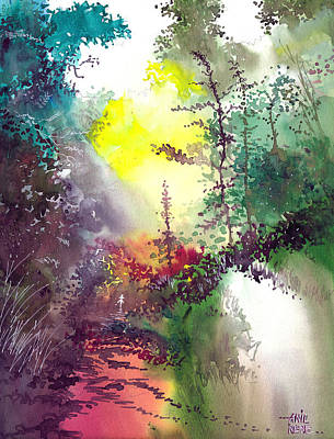 Beautiful Scenery Drawing - Back To Jungle by Anil Nene
